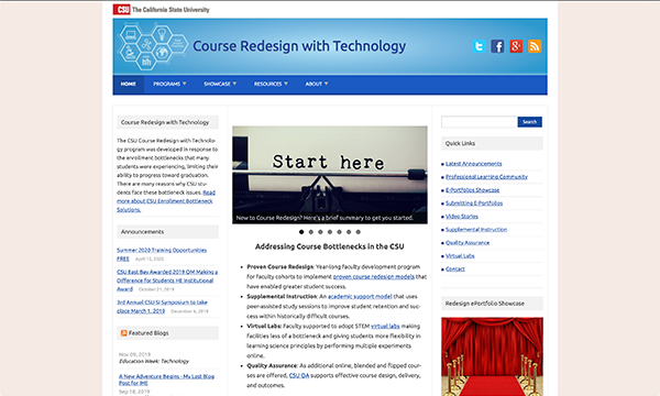Calif State Univ - Course Redesign with Technology