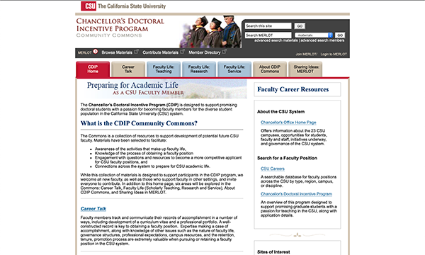 Calif State Univ - Prep for Academic Life/CDIP