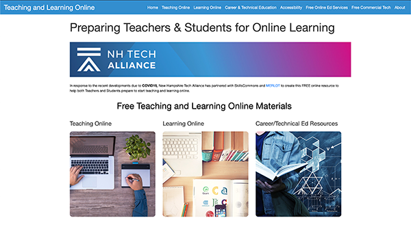 Teaching & Learning Online Portal: New Hampshire Tech Alliance