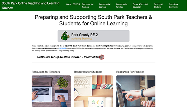 Teaching & Learning Online Portal: South Park County RE-2