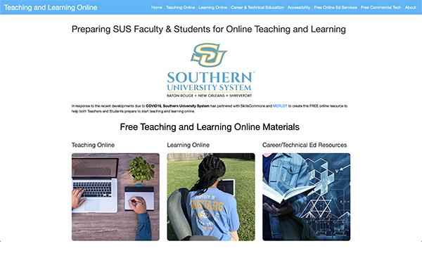 Teaching & Learning Online Portal: Southern University System