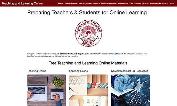 Teaching & Learning Online Portal: Morehouse College