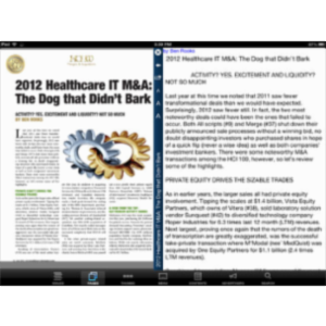 Healthcare Informatics Magazine App for iPad