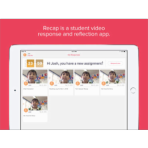 Recap: Video Response and Reflection for Education App for iPad
