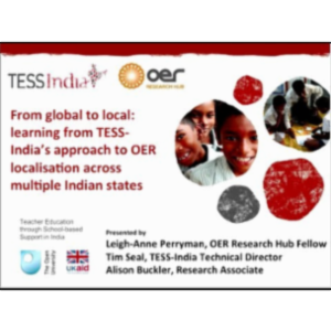 From Global to Local: Learning from TESS-India's Approach to OER Localisation Across Multiple Indian States icon