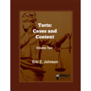 Torts: Cases and Contexts Volume 2 icon