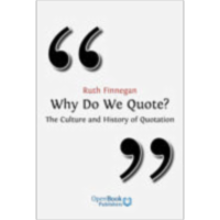 Why Do We Quote? The Culture and History of Quotation icon