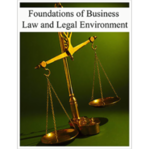 Foundations of Business Law and Legal Environment icon