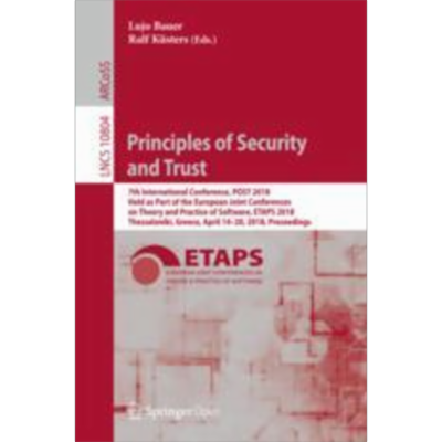 Principles of Security and Trust | SpringerLink icon