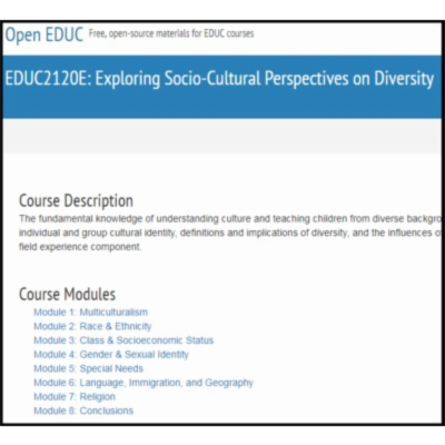 OpenEDUC: Exploring Socio-Cultural Perspectives in Diversity icon