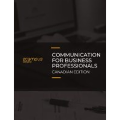 Communication for Business Professionals - Canadian Edition