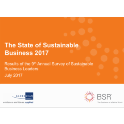The State of Sustainable Business 2017 icon