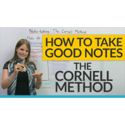 How to study efficiently: The Cornell Notes Method icon