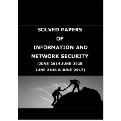 VTU 8TH SEM INFORMATION AND NETWORK SECURITY SOLVED PAPERS icon