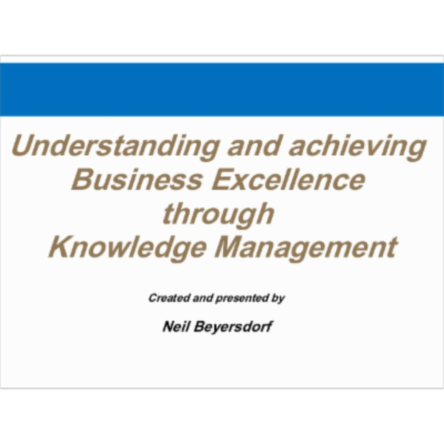 Business Excellence through Knowledge Management icon