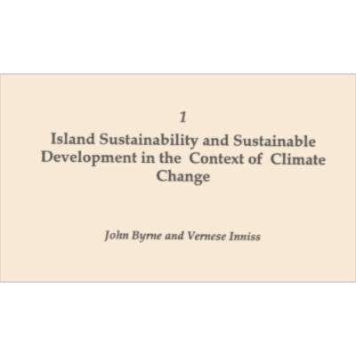 Island sustainability and sustainable development in the context of climate change icon
