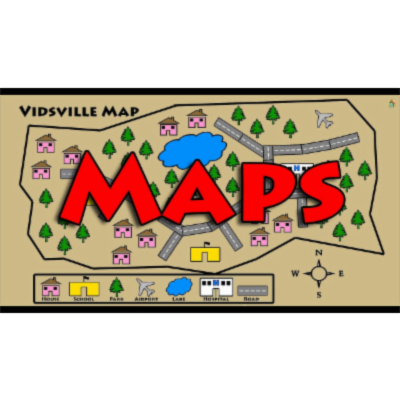 Learn About Maps - Symbols, Map Key, Compass Rose icon