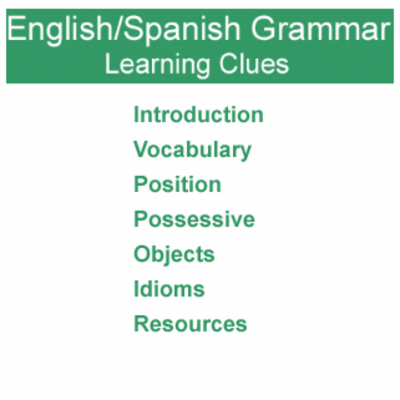 English/Spanish Grammar Learning Clues icon