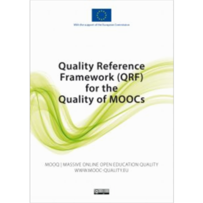 Quality Reference Framework (QRF) for MOOCs