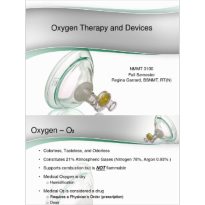 Oxygen Therapy and Devices Lecture PPT icon