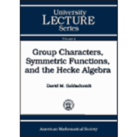 Group Characters, Symmetric Functions,