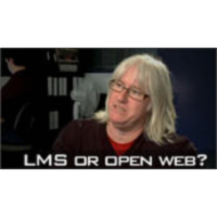 Learning management system or the open web?