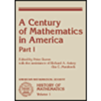 AMS History of Mathematics, Volume 1: A Century of Mathematics in America, Part I icon