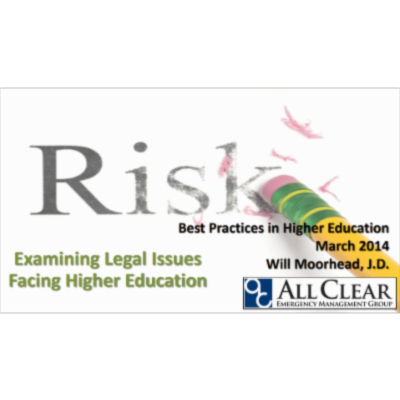 Examining Legal Issues Facing Higher Education