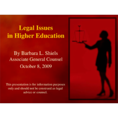 Legal Issues in Higher Education icon