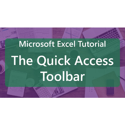 Microsoft Excel Tutorial: Quick Access Toolbar icon
