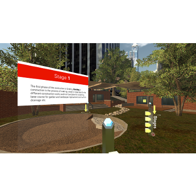 Immersive Virtual Reality (VR) Technology to Teach Construction, Materials, and Methods In Landscape Architecture icon
