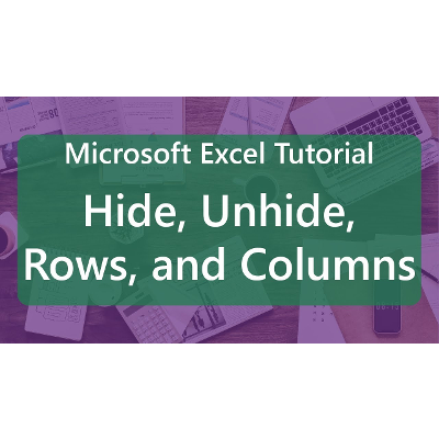 Microsoft Excel Tutorial: Hide, Unhide, Rows, and Columns icon