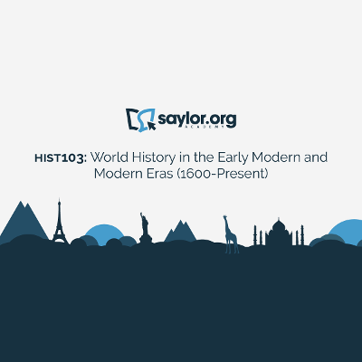 HIST103: World History in the Early Modern and Modern Eras (1600-Present) | Saylor Academy icon