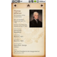 U.S. Presidents App for Android icon