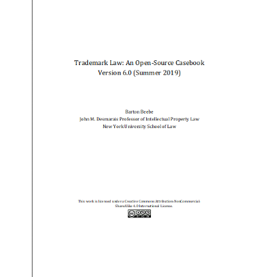 Trademark Law: An Open-Source Casebook Version 6.0 icon