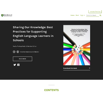 Sharing Our Knowledge: Best Practices for Supporting English Language Learners in Schools icon