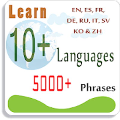 Learn 10 Languages with 5000 Phrases - Apps on Google Play icon