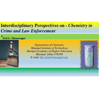 Interdisciplinary Perspectives on - Chemistry in Crime and Law Enforc… icon