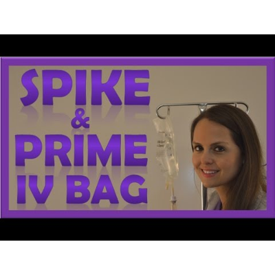 How to Prime IV Tubing Line | How to Spike a IV Bag for Nursing icon