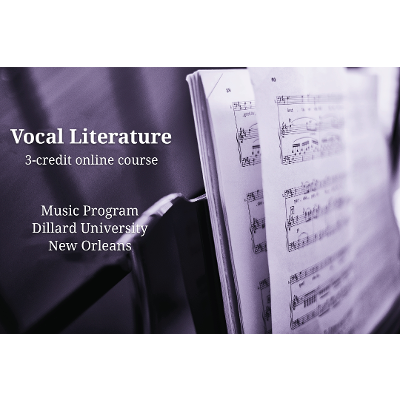 Vocal Literature (online course)