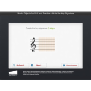 Write Key Signature App for iPad icon