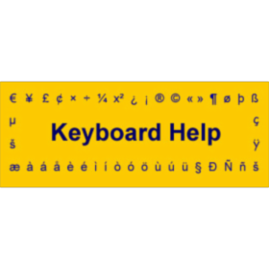 Keyboard Help icon
