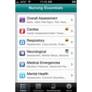 Nursing Essentials App for iOS
