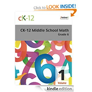 CK-12 Middle School Math Grade 6, Volume 1 Of 2 icon