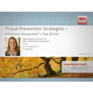 Fraud Prevention Strategies - A Forensic Accountant's Top 20 List icon