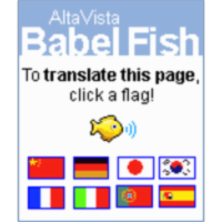 Translation service for web pages in modern languages icon