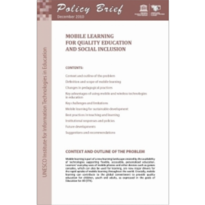 Mobile learning for quality education and social inclusion icon