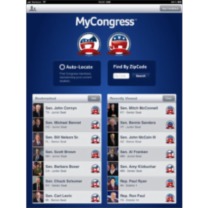 MyCongress App for iPad
