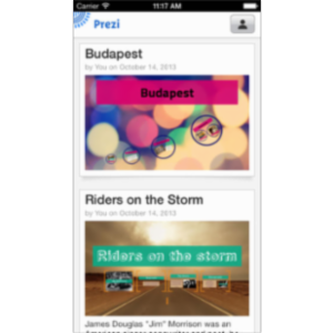 Prezi Viewer App for iOS icon