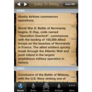 Today In History Lite App for iOS icon
